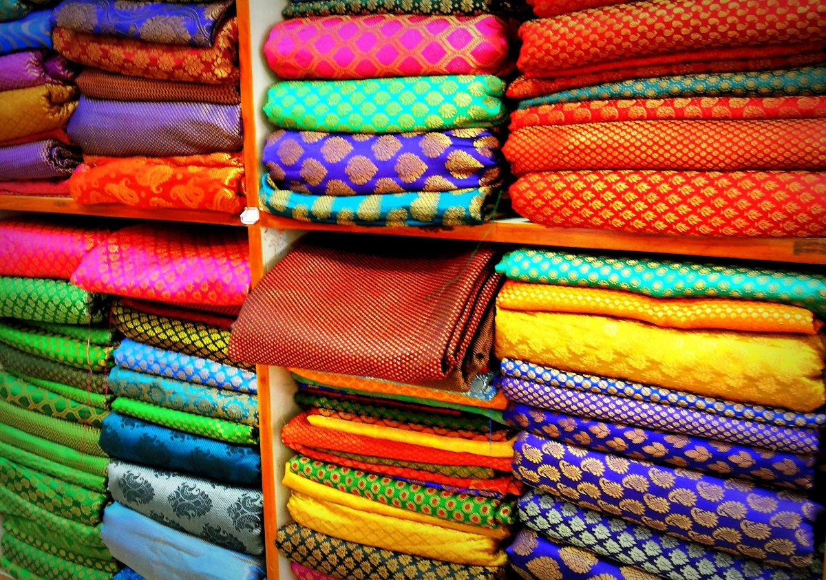Technicolor Textiles in New Delhi